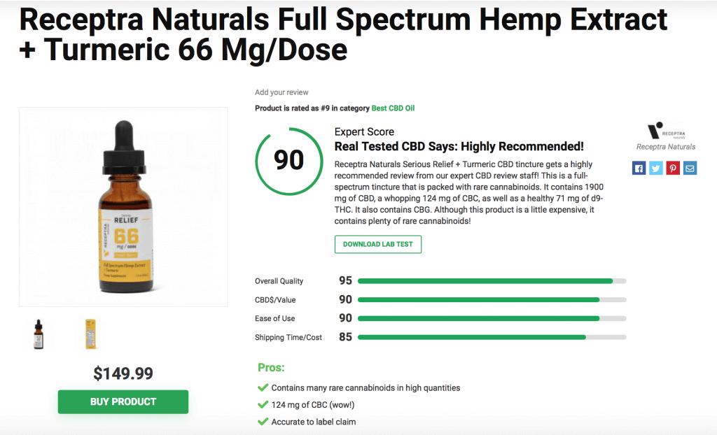 Receptra Naturals CBD Oill