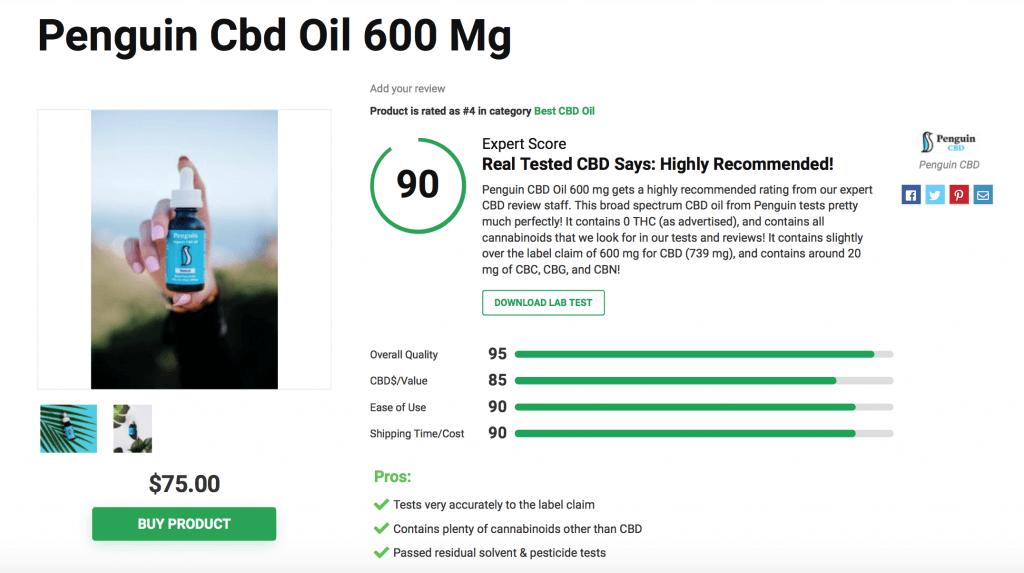 Penguin CBD Oil - 600mg