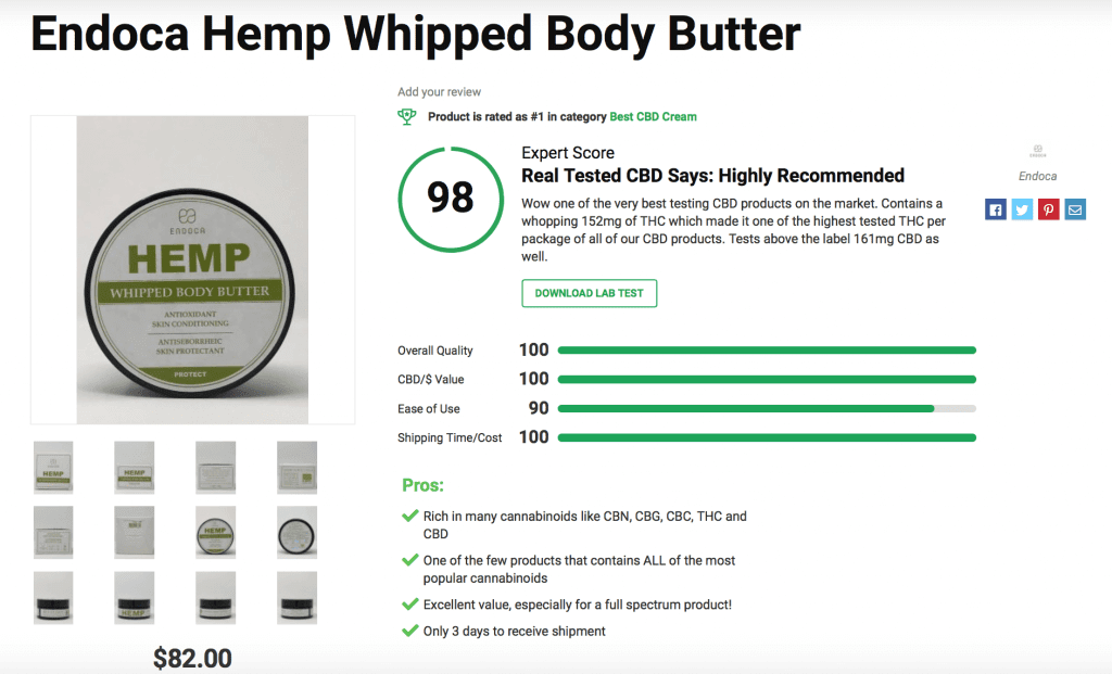 Endoca Hemp Whipped Body Butter