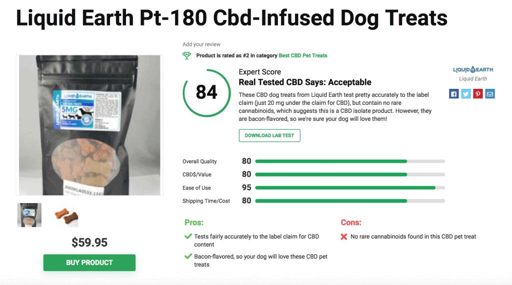 Liquid Earth CBD Infused Dog Treats