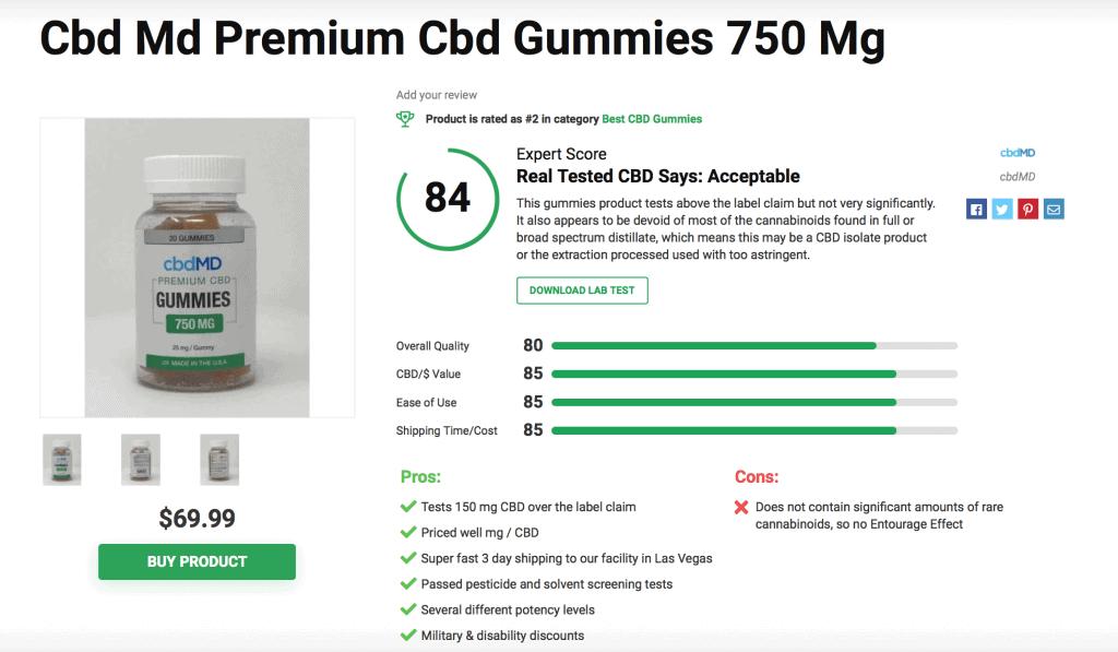 cbdMD CBD Premium Gummies