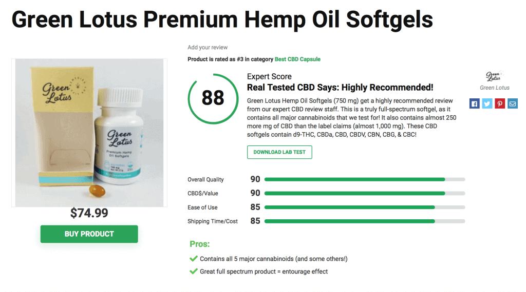 Green Lotus Premium Hemp Soft-gels