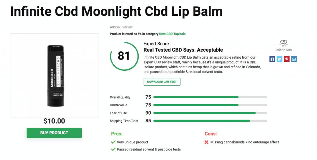 Infinite CBD Moonlight CBD Lip Balm