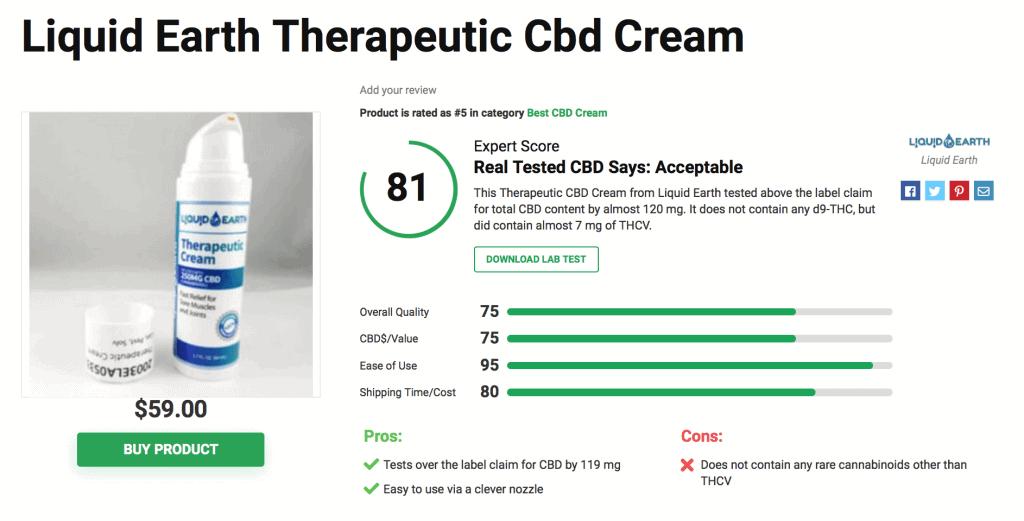 Liquid Earth Therapeutic CBD Cream
