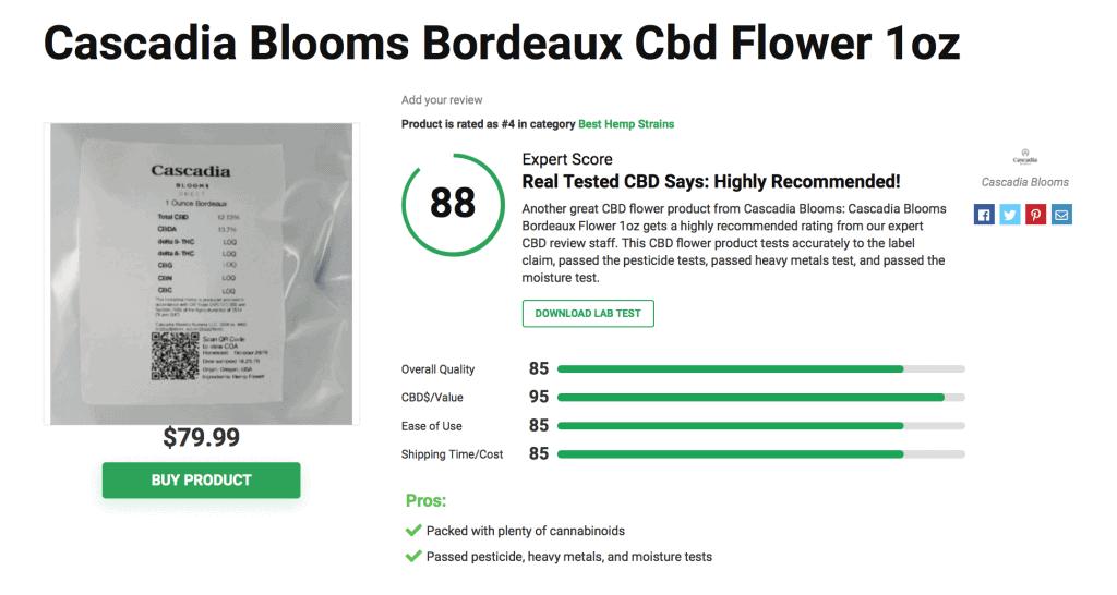 Cascadia Blooms CBD Hemp Strains