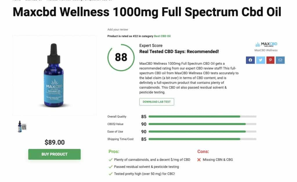 MaxCBD Wellness CBD Oil