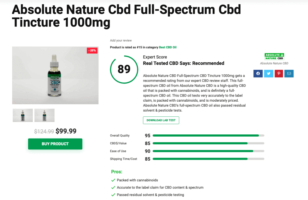 Is 'Absolute Nature CBD' Legit? – A Real Tested CBD Brand Spotlight Review