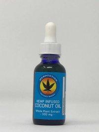 Hemptation Hemp Infused Coconut Oil Whole Plant Extract 300 mg