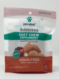 PET RELEAF EDIBITES SOFT CHEW SUPPLEMENTS 2 MG