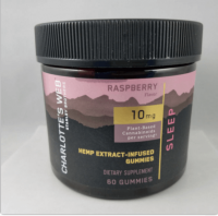 CHARLOTTE'S WEB RASPBERRY HEMP EXTRACT-INFUSED GUMMIES 10 MG
