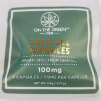 On The Green CBD Soft Gel Capsules 4 Pack